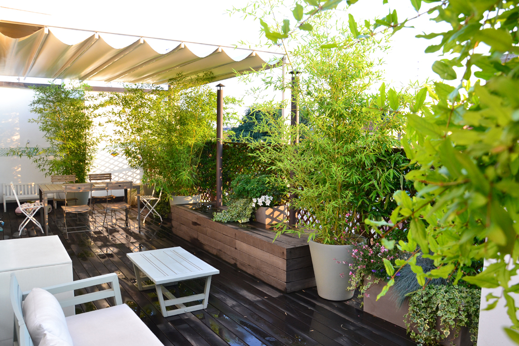 giardino verde in terrazza