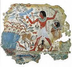 Tipico dipinto murale egizio