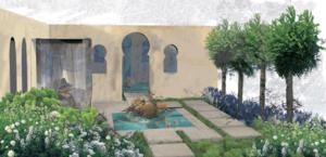 Progettazione giardino islamico esterno