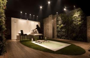 Giardino verticale interno per Spa privata