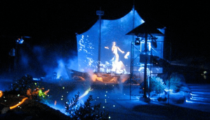 Illuminazione teatro urbano