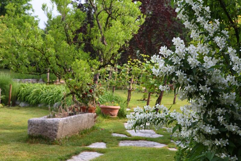 giardino di campagna rustico